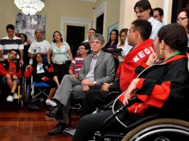 ricardo recebe atletas paraolimpicos foto francisco frança secom pb_0321