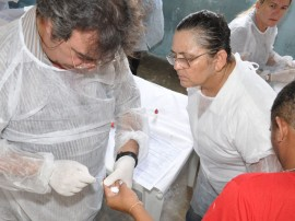 ses realiza teste de hiv no presidio do roger foto claudio cesar 13