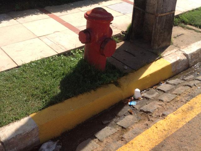 12.04.13 hidrante 4 - Bombeiros fiscalizam estacionamento de veículos próximo a hidrantes