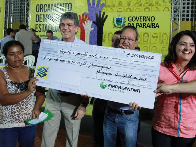 ODE de Mamanguape foto francisco frança 97 - Ricardo anuncia obras e entrega créditos do Empreender-PB