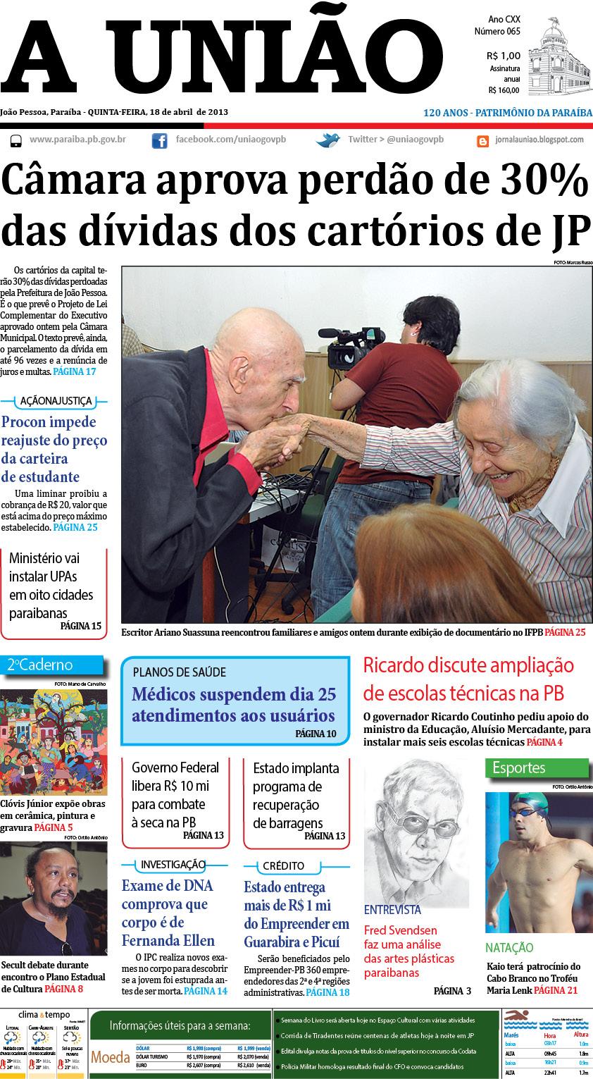 Pagina 1 - Jornal A União