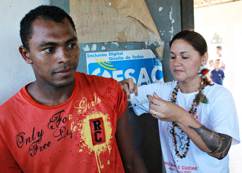 Vacinação Influenza Baía da Traição Ricardo Puppe 6 - Aberta Campanha de Vacinação contra Influenza para População Indígena