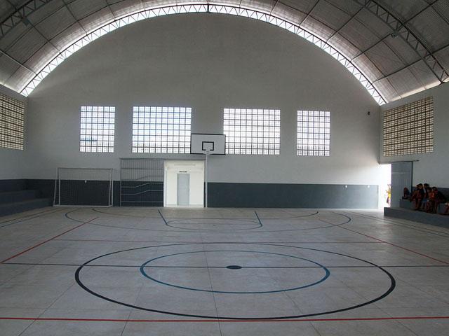 ginasio em sao miguel de taipu foto francisco frança 1 - Governo inaugura primeiro ginásio esportivo de São Miguel de Taipu