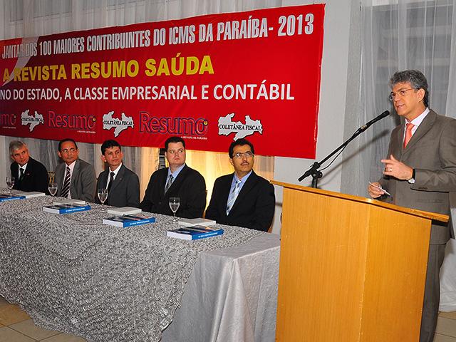 ricardo 100 maiores contribuintes do icms 2012 fotos roberto guedes 8 - Evento homenageia os cem maiores contribuintes do ICMS na Paraíba