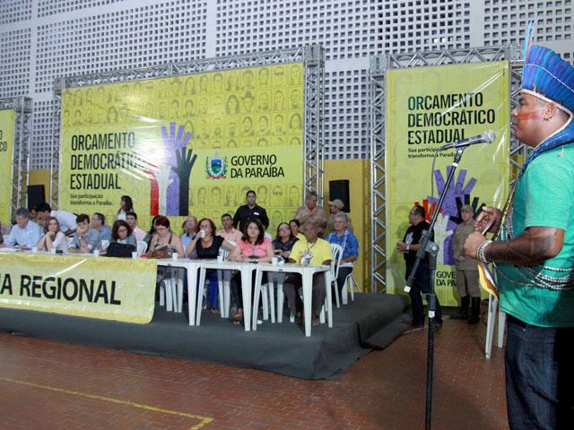 ricardo no ODE de Mamaguape foto francisco frança 1 - Moradores do Vale do Mamanguape elegem prioridades no ODE 2013