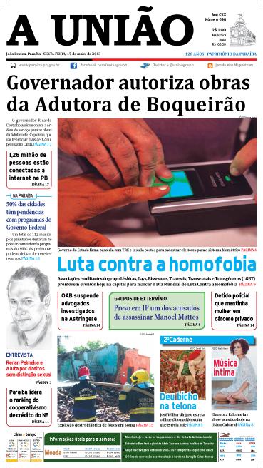 Capa A União 17 05 13 - Jornal A União