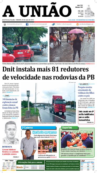 Capa A União 18 05 13 - Jornal A União