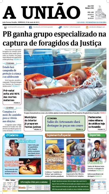 Capa A União 19 05 13 - Jornal A União