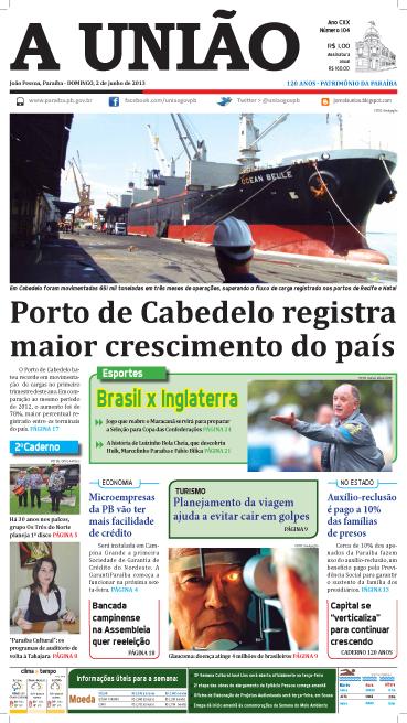 Capa A União 02 06 13 - Jornal A União
