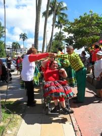 Quadrilha 1 202x270 - Ricardo participa de Forró Acessível na praia de Cabo Branco