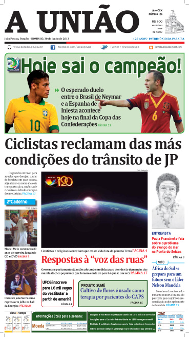 Capa A União 30 06 13 - Jornal A União