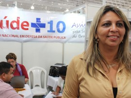 Jassiara Gerente da 1ª Gerência Regional de Saúde FOTO Ricardo Puppe 270x202 - Paraíba coleta assinaturas para o Movimento Nacional Saúde +10