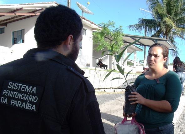 mudas 1 - Seap entrega mudas de árvores nativas para familiares de detentos em Campina Grande
