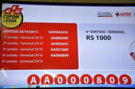 25.10.13 LOTEP SORTEIO FOTO JOAO FRANCISCO 12 270x179 - Mais cinco paraibanos ganham prêmio de R$ 1 mil no Cupom Legal