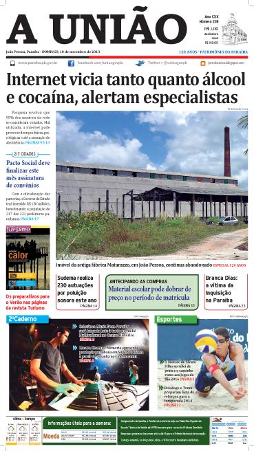 Capa A União 10 11 13 - Jornal A União