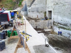 inspeção camara2 270x202 - Secretários inspecionam obras de reconstrução da Barragem Nova Camará