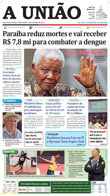 Capa A União 06 12 13 - Jornal A União