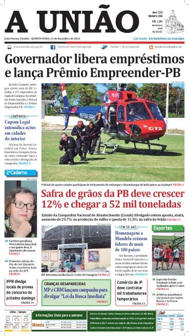 Capa A União em PDF 11 12 13 - Jornal A União