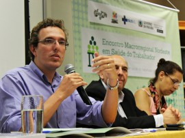 SAUDE DO TRABALHADOR FOTO Ricardo Puppe 1 11 270x202 - SES participa da abertura do IV Encontro Macrorregional Nordeste em Saúde do Trabalhador