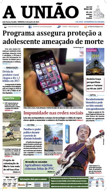 Capa A União 05 01 14 - Jornal A União