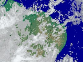 chuvas satelite aesa 270x202 - Aesa prevê chuva em todas as regiões da Paraíba nesta quarta-feira