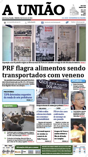 Capa A União 08 02 14 - Jornal A  União