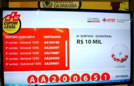 Sorteio Cupom Legal de R 10 mil 14 de fevereiro de 2014 270x173 - Cupom Legal divulga ganhador do 1º prêmio de R$ 10 mil de fevereiro