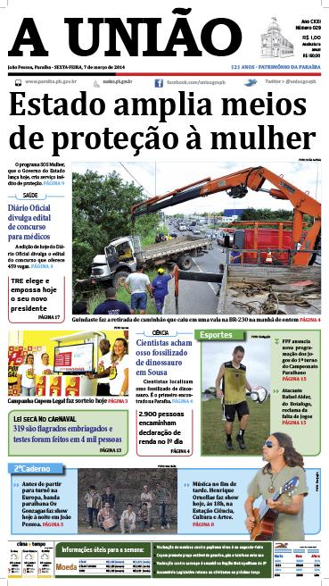 Capa A União 07 03 14 - Jornal A União