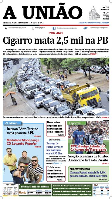 Capa A União 14 03 14 - Jornal A União