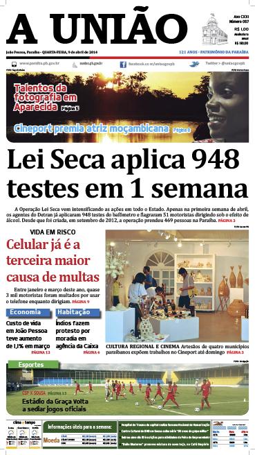 Capa A União 09 04 14 - Jornal A União