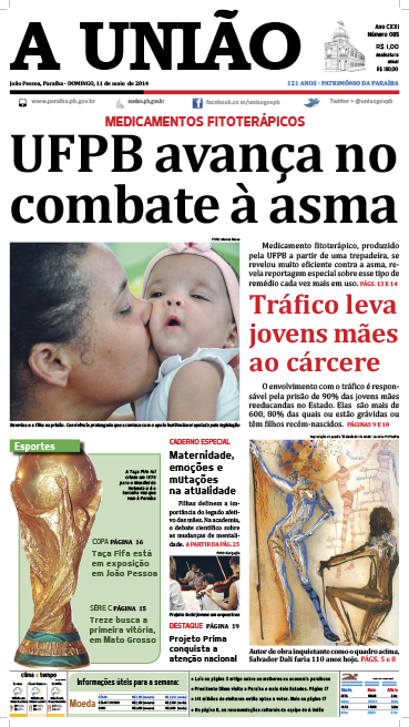 Capa A União 11 05 14 - Jornal A União