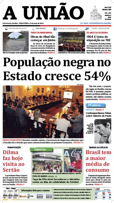 Capa A União 13 05 14 - Jornal A União