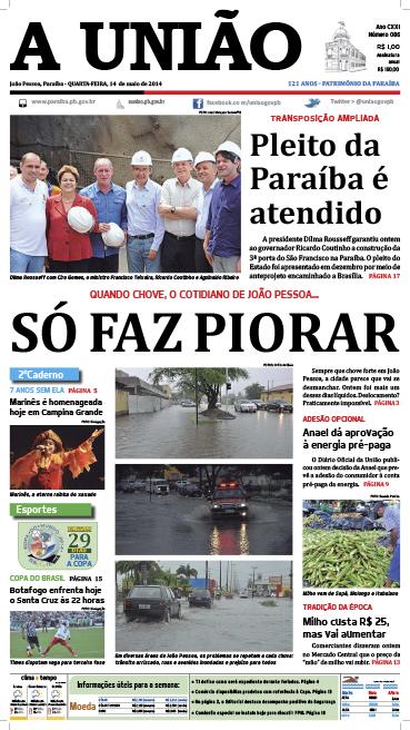 Capa A União 14 05 14 - Jornal A União