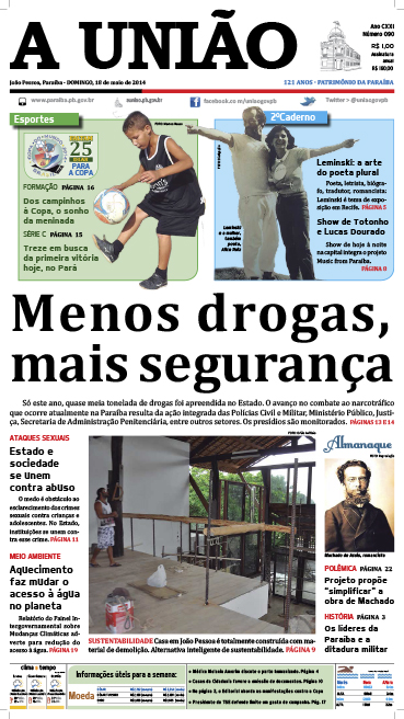 Capa A União 18 05 14 - Jornal A União