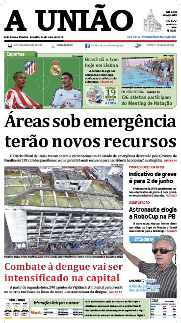 Capa A União 24 05 14 - Jornal A União