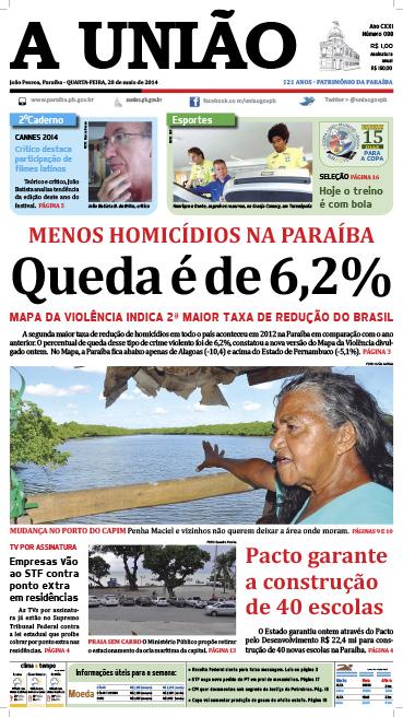 Capa A União 28 05 14 - Jornal A União