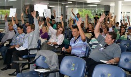 Votação Eleição por unanimidade no Comitê do Rio Paraíba 270x160 - Comitê da bacia hidrográfica do Rio Paraíba empossa integrantes e elege nova diretoria