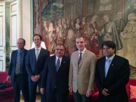 romulo recebido por embaixador da franca em madrit espanha 2 270x202 - Desenvolvimento da Paraíba é apresentado na Espanha para integrantes de vários países