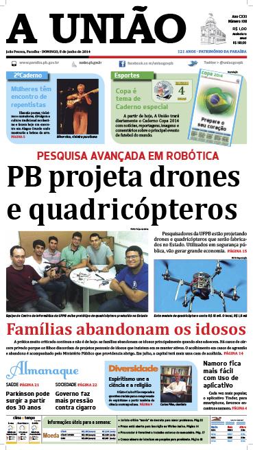 Capa A União 08 06 14 - Jornal A União