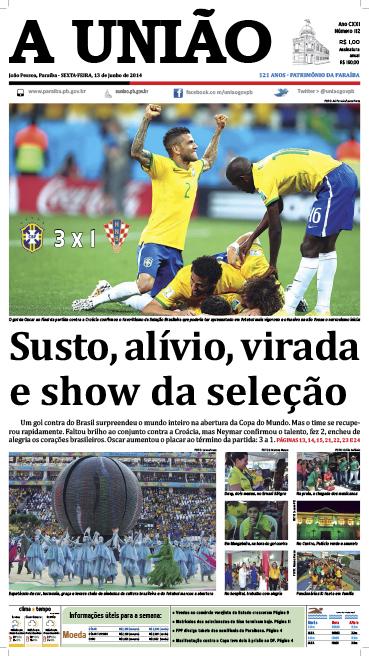Capa A União 13 06 14 - Jornal A União