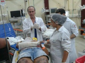 ses hospital de trauma jp realiza simulacao de acidente 3 270x202 - Hospital de Trauma de João Pessoa realiza simulação de acidente