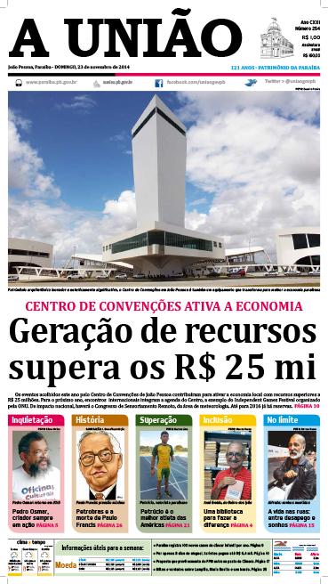 Capa A União 23 11 14 - Jornal A União