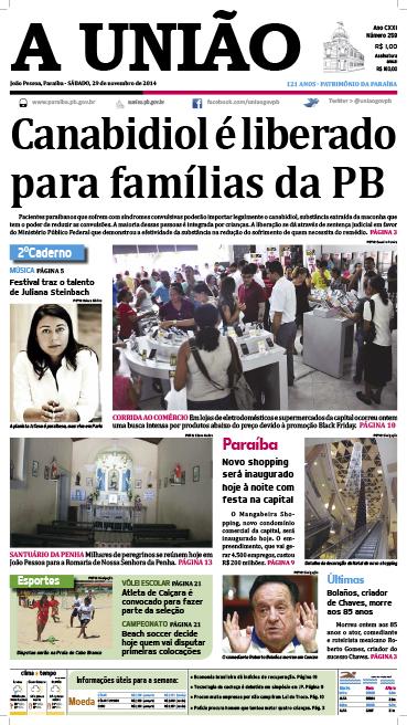 Capa A União 29 11 14 - Jornal A União
