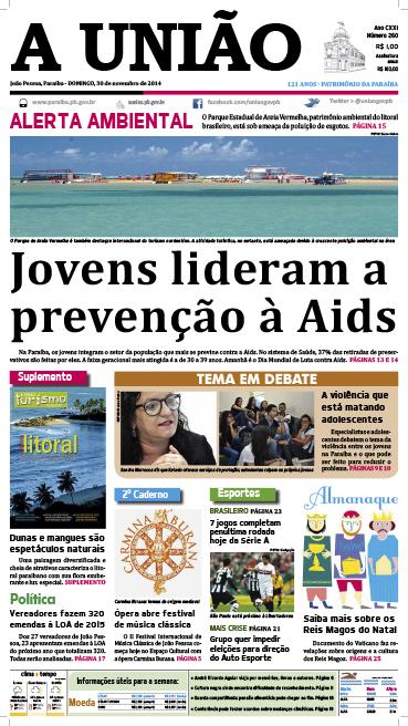 Capa A União 30 11 14 - Jornal A União