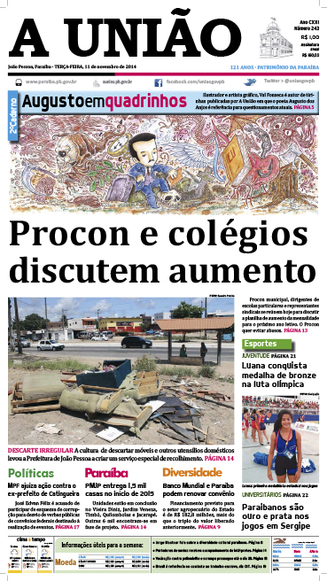 Capa A Uniao 11 11 14 - Jornal A União
