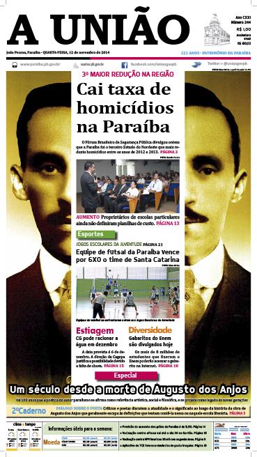 Capa A Uniao 12 11 14 - Jornal A União