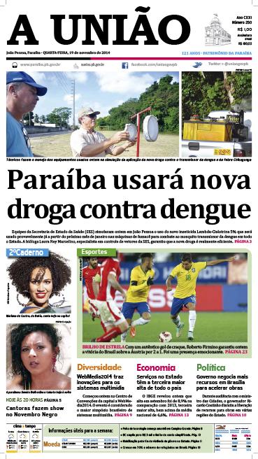 Capa A Uniao 19 11 14 - Jornal A União