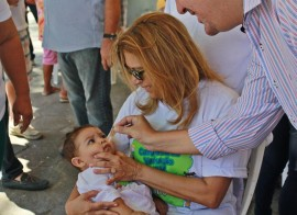Vacinação Cajazeiras FOTO Ricardo Puppe 3 270x196 - SegundoDia 'D' da Campanha de Vacinação contra Pólio e Sarampo aberto em Cajazeiras