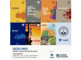 edicoes funesc lancamento final  270x202 - Funesc lança livros contemplados no edital do Prêmio Augusto dos Anjos