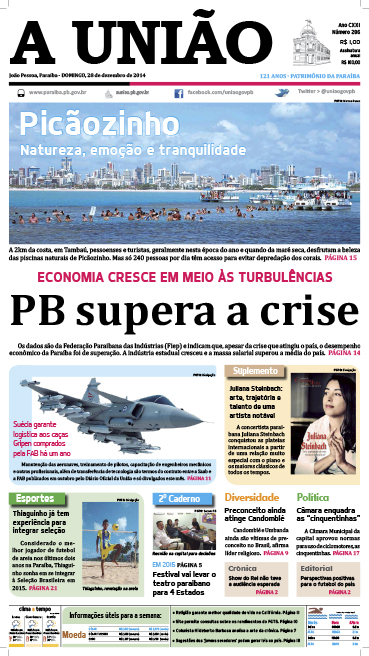 Capa A União 28 12 14 - Jornal A União
